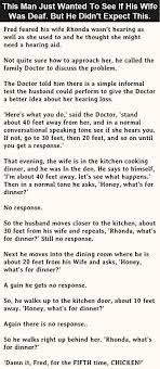 this man just wanted to see if his wife was deaf but he didnt  this man just wanted to see if his wife was deaf but he didnt expect this funny jokes story lol funny quote funny quotes funny sayings joke hilarious humor