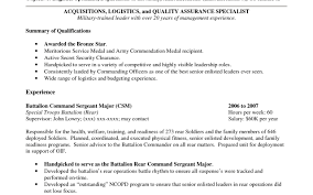 Excellent Sample Resume Of Military Civilian Resume Military Cover