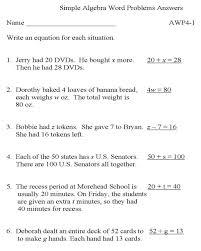 solving algebra word problems worksheet worksheets for all and share worksheets free on bonlacfoods com