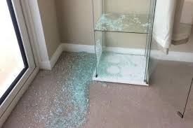 the floor was covered in glass after the cabinet exploded the couple claim image eileen perkins