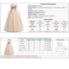 4 Year Girl Dress Size Chart Girls Wedding Dress Elegant Children Clothing Girls Christmas Dress Summer Maxi Kids Dresses For Girls Princess Dresses Vestidos Vova