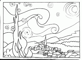 Small Picture Famous painting coloring page