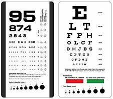 Mccoy Ultimate Rosenbaum Snellen Pocket Eye Chart For Sale