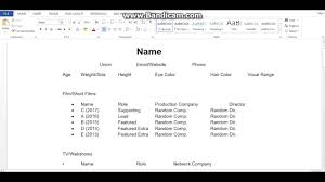 How To Make An Acting Resume For Beginners How To Make An Acting Resume
