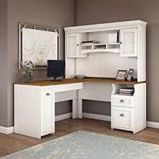white desk with hutch. Perfect Desk Fairviewdeskhutchlateral FileofficeblackwhiteBush With White Desk Hutch L