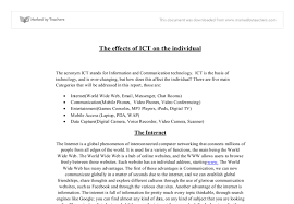 Be Stands For The Acronym Ict Stands For Information And Communication
