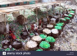 Plastic Bottle Recycling Bangladeshi People Works In A Plastic Bottle Recycling Factory