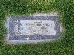 Effie Sutton Giager (1889-1958) - Find A Grave Memorial