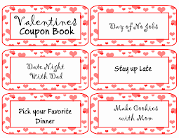 Valentine S Day Gifts For Him Coupon Book Gift Ideas