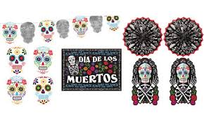 Small Picture Day of the Dead Decorations Supplies Day of the Dead Skulls