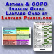 Copd Inhalers Chart Details About Copd And Asthma Inhaler Guide Pvc Lanyard Badge Card