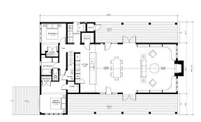 open floor plan modern farmhouse southern house plans small two