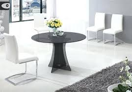 round smoked glass dining table dining table in smoked round glass and 6 white chairs set
