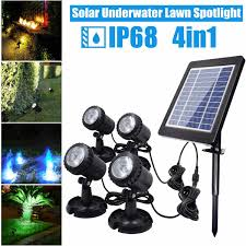 Underwater Solar Led Lights Us 34 86 46 Off Solar Light 1 In 4 Waterproof Ip68 Underwater Fountain Pond Lights Led Spotlights For Outdoor Amphibious Lawn Pool Garden On