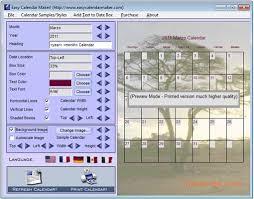 Clander Maker Easy Calendar Maker Download For Pc Free