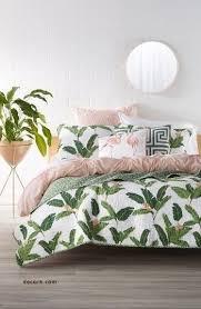 pink tropical bedroom luxury green