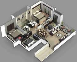 Open Concept 3 Bedroom House Floor Plan Design 3d 3 Bedroom Floor Plans 3d 3d Home Floor Plan Interior 3d