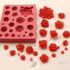 ROSE series <b>21PCS</b> No.9 Decoration Silicone molds <b>Soap Making</b> ...