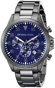 amazon com michael kors men s gage gunmetal watch mk8443 michael michael kors men s gage gunmetal watch mk8443