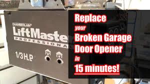 how to fix a garage door openerHow to Replace Garage Door Opener in 15 Minutes  YouTube