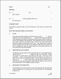 Family Loan Template Family Loan Agreement Template Uk 14 Best Of Personal Loan Agreement