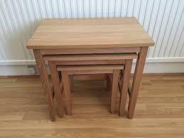 set of 3 nest side tables ikea skoghall