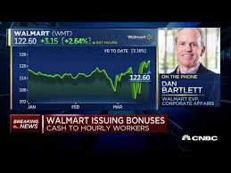 Walmart plans to issue cash bonuses to hourly workers - YouTube