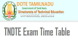 tndte diploma time table dote exam schedule  tndte diploma time table 2018