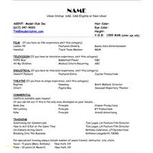 Sample Resume Template Sample Resume Word Document Free Download or Modeling Resume 25