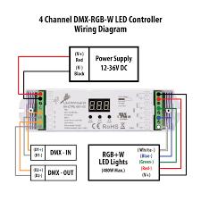 4 channel dmx rgb w led controller DMX Connector Wiring manual for 4 channel dmx rgb w led controller