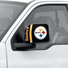 steeler seat covers give your car or truck some pride with the side mirror steelers set