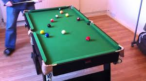 snooker table folding 5ft bce riley black