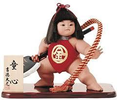 Amazon | 吉徳大光 五月人形 飾り 金太郎人形 童心10号 間口48×奥行37×高さ47 cm 02-503-258 | 兜飾り | おもちゃ