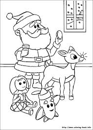 Santa Rudolph Coloring Pages Profitclinicinfo