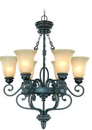 chandeliers allen roth chandelier 9 light lighting plus highland place 6 in mocha bronze
