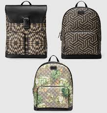 gucci book bags for men. gucci men\u0027s backpack in gg blooms \u0026 caleido print canvas book bags for men