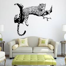 tiger pattern creative personality wall stickers living room bedroom decoration art stickers removable 48 80cm pvc wall art wallpapers big stickers for wall