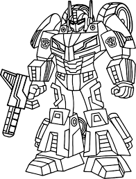 Small Picture Outline Transformers Coloring Page Wecoloringpage