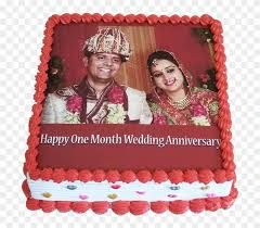 1st Marriage Anniversary Pineapple Photo Cake Happy 1st Marriage