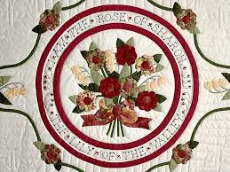 Rose of Sharon Quilt -- superb cleverly made Amish Quilts from ... & ... Burgundy and Sage Rose of Sharon Quilt Photo 4 ... Adamdwight.com