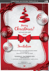 Christmas Invitation Card Christmas Invitation Template V4