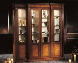 glass door display cabinet wall