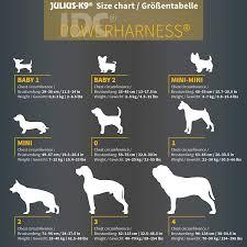 Julius K9 Power Harness Sizing Chart Julius K9 Idc Powerharness Dog Harness