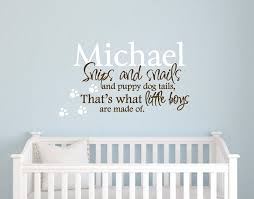 personalized vinyl wall decal quote baby boy nursery art ebay on vinyl wall art boy nursery with snipes and snails personalized vinyl wall decal quote baby boy