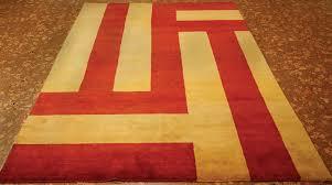 rugsville tibet red yellow wool rug 17000