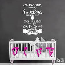 somewhere over the rainbow wall decal e