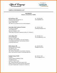 Reference Page Template Sop Proposal