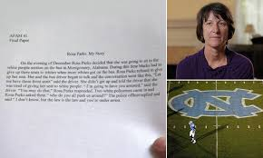unc football player rosa parks essay outline power point help  sign in gmail