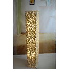 Column Floor Lamp Stunning CaliforniaLighting Rectangle Bamboo Woven 32 LED Column Floor Lamp