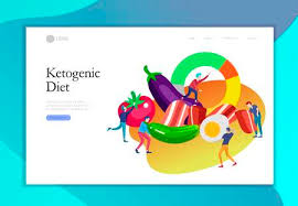 Caveman Diet Chart Keto Diet Landing Page Template Cartoon People Characters Concept